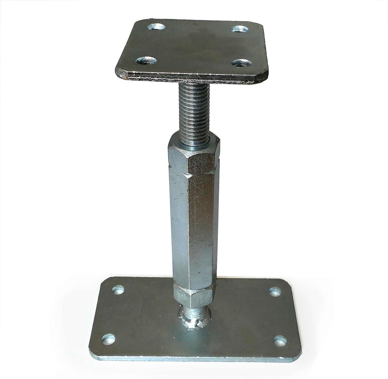 Soporte postes P, regulable 160-220 mm, 80x80 mm: Amazon.es ...