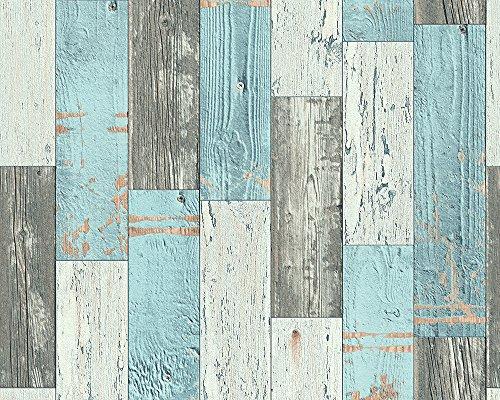 AS-Cration-Faro-4-papel-pintado-imitacin-de-madera-Vintage-en-Color-Azul-crema-gris-962461