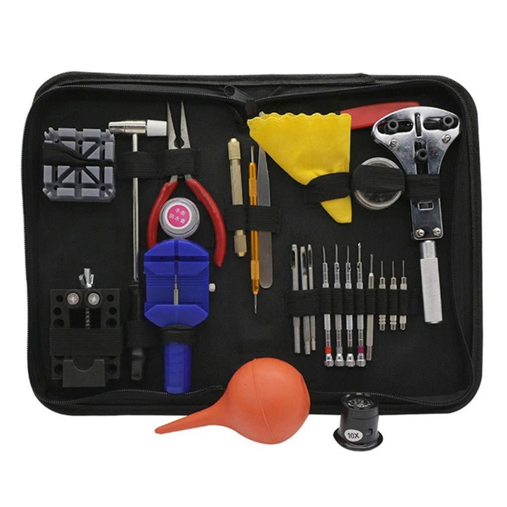 Level 27 en 1 Ver en Dispositivos de Herramientas de reparación del Kit del Reloj del abrelatas del Caso del Reloj del removedor Pinzas Juego de reparación: ...
