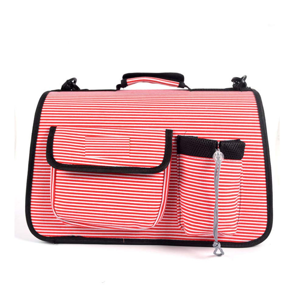 RED L RED L Animal Bag Pet Carrier for Small Dogs and Cats Travel Bag (color   RED, Size   L)