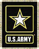 US Army MIL Triple Woven Jacquard Throw (48x60'')''