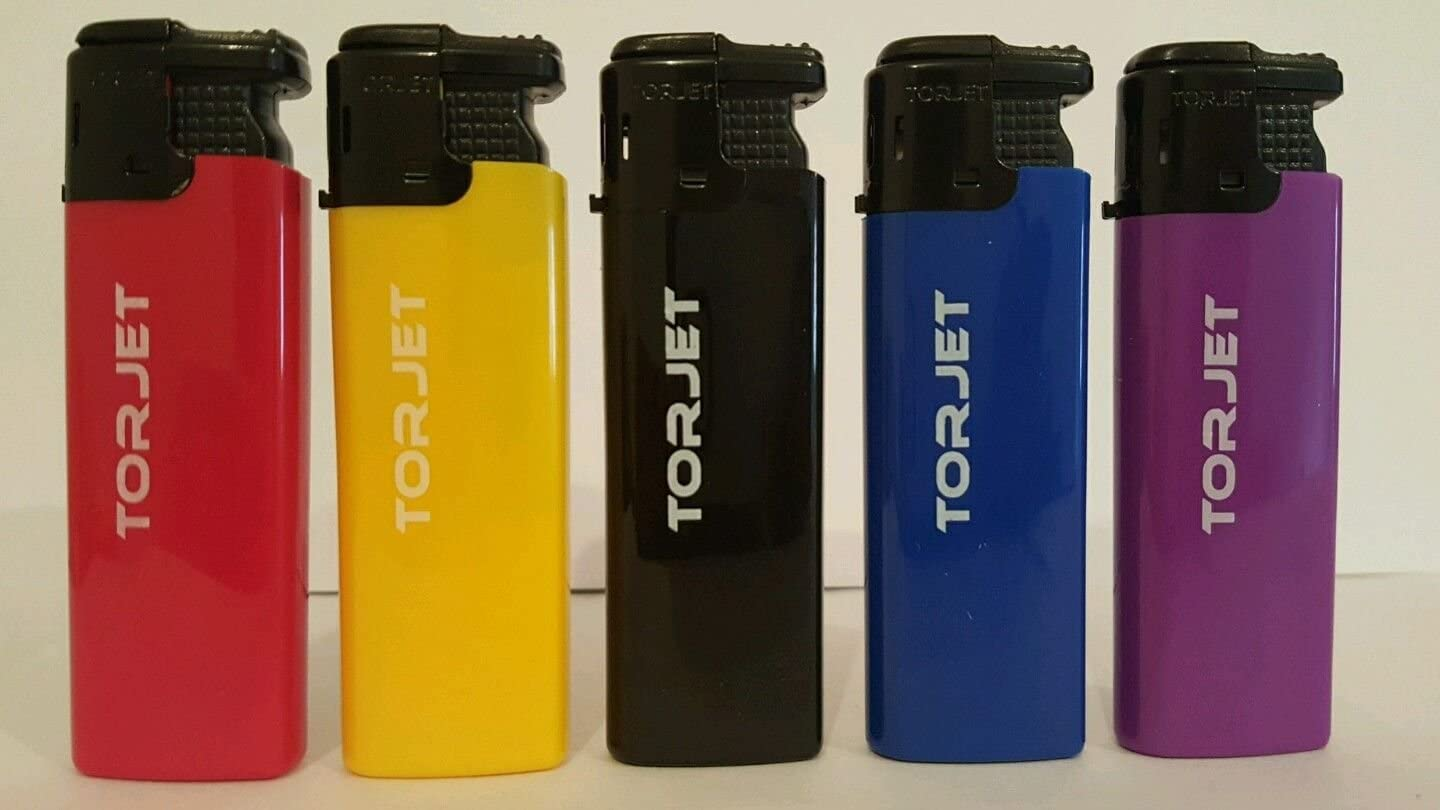 Refillable TORJET WINDPROOF JET FLAME ELECTRONIC LIGHTER 5 x