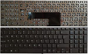 Laptop Replacement Keyboard Fit Sony Vaio SVF152C1JN SVF1521A6EW SVF1521P1RW SVF1521T2EB SVF1521C5E UK Layout Big Enter Key