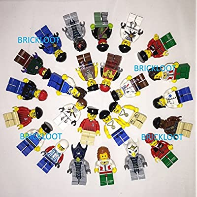 LEGO Grab Bag Lot of 10 Minifigures Figures Men People Minifigs: Toys & Games