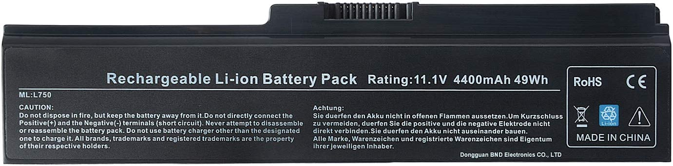 TAUPO PA3817U-1BRS Laptop Battery Compatible with Toshiba Satellite C655 L600 L675 L675D L700 L745 L750 L750D L755 L755D M640 M645 M645-S4070 P745 P745-S4102,fit PA3819U-1BRS