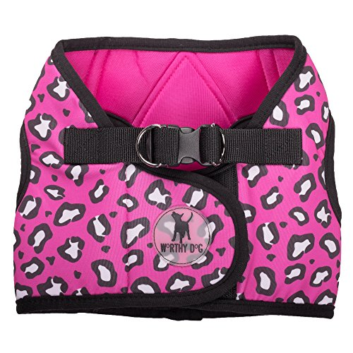 0.75' Snap Hook (Printed Sidekick Cheetah Pink Harness, Pink, M)
