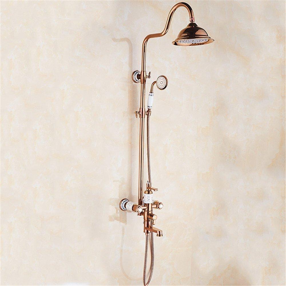 ヨーロッパスタイルで完全にの銅の壁にシャワーシャワーシャワーのセラミックソケット B07CZYF3GF