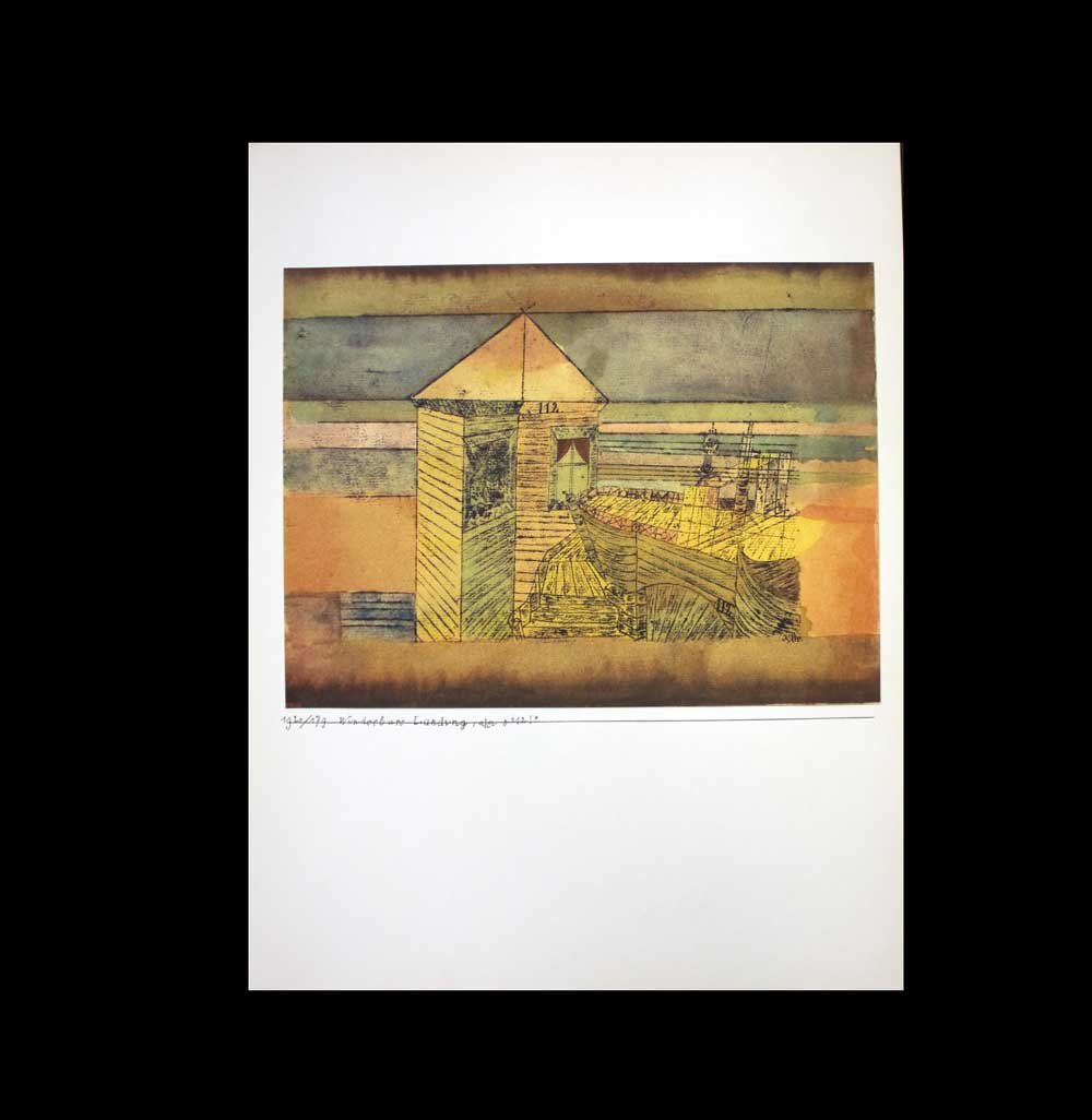 Paul Klee ( 1879 – 1940 ) Pochoir Limited Edition、WUNDERBARE Landung |署名| Rice Paper |ギャラリー準備認証| art183 ; docs8482 ;登録documentation185 ; + art183 ; sure8482 ; 179 ; B00DHYP8B2