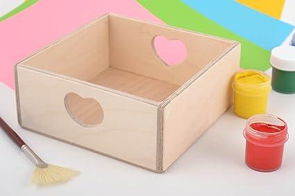 Pieza para manualidad artesanal caja de madera para decoupage o pintar bonita
