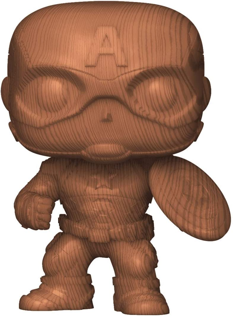 Figura decorativa de madera de Capitán América Pop Vinyl – Entertainment Earth Exclusive