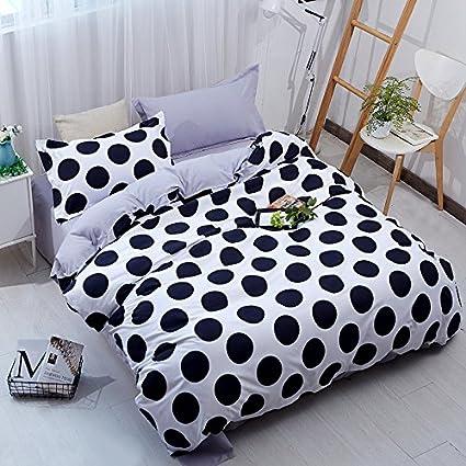 Amazon Com Yousa 3pcs Black White Polka Dot Bedding Microfiber