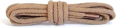 Kaps Cordones redondos, cordones de algodón 100% duraderos hechos en Europa, 1 par,, colores y longitudes
