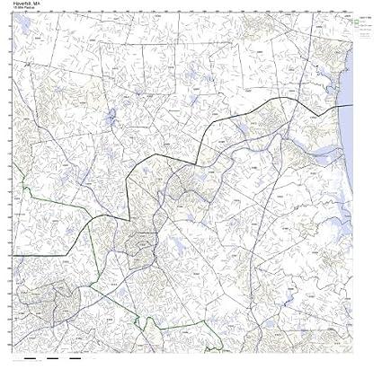 Haverhill Ma Zip Code Map.Amazon Com Haverhill Ma Zip Code Map Not Laminated Home Kitchen