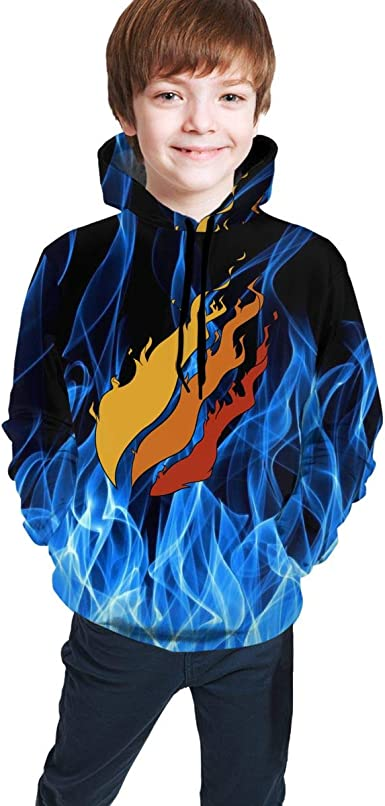 CVGHJ Preston Fire Nation Playz Gamer Fashion Flame Hoodie Pullover Boys//Girls//Teen//Kids Sweatshirt
