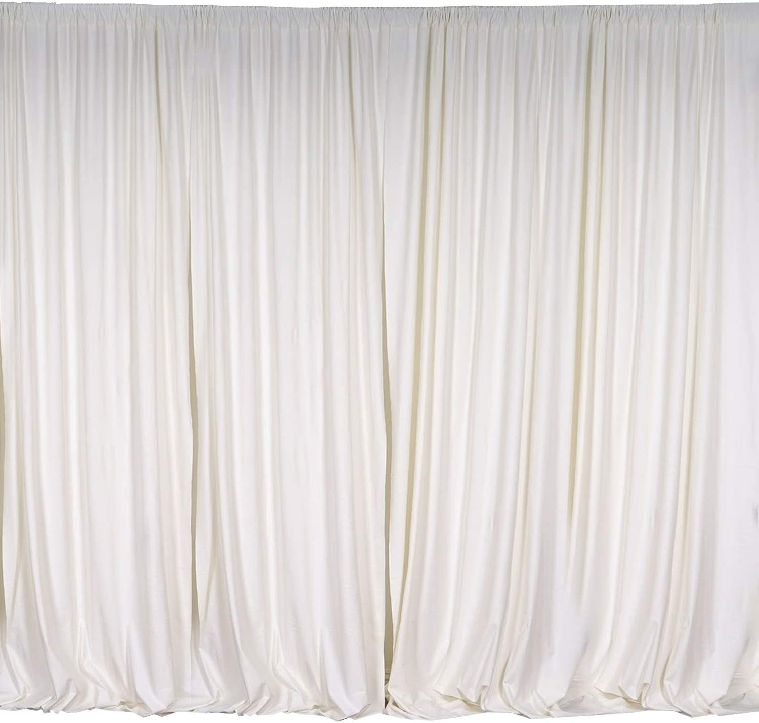 """lovemyfabric 100% Polyester Window Curtain/Stage Backdrop Curtain/Photography Backdrop 58"""" Inch X 108"""" Inch (1, Ivory)"""