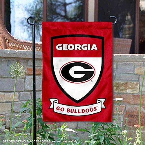 (Georgia Bulldogs Crest Shield Garden Flag and Banner)