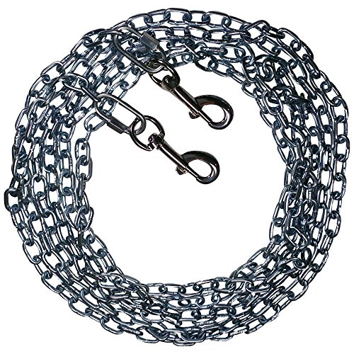 Beast-Master Straight Link Tie-Out Chain with Bolt Snaps Medium Dogs 35 LBS (100) by Beast-Master