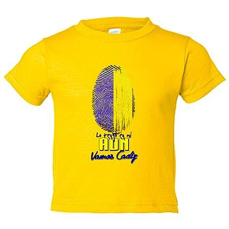 Camiseta niño lo tengo en mi ADN Cádiz fútbol - Amarillo, 3-4 años
