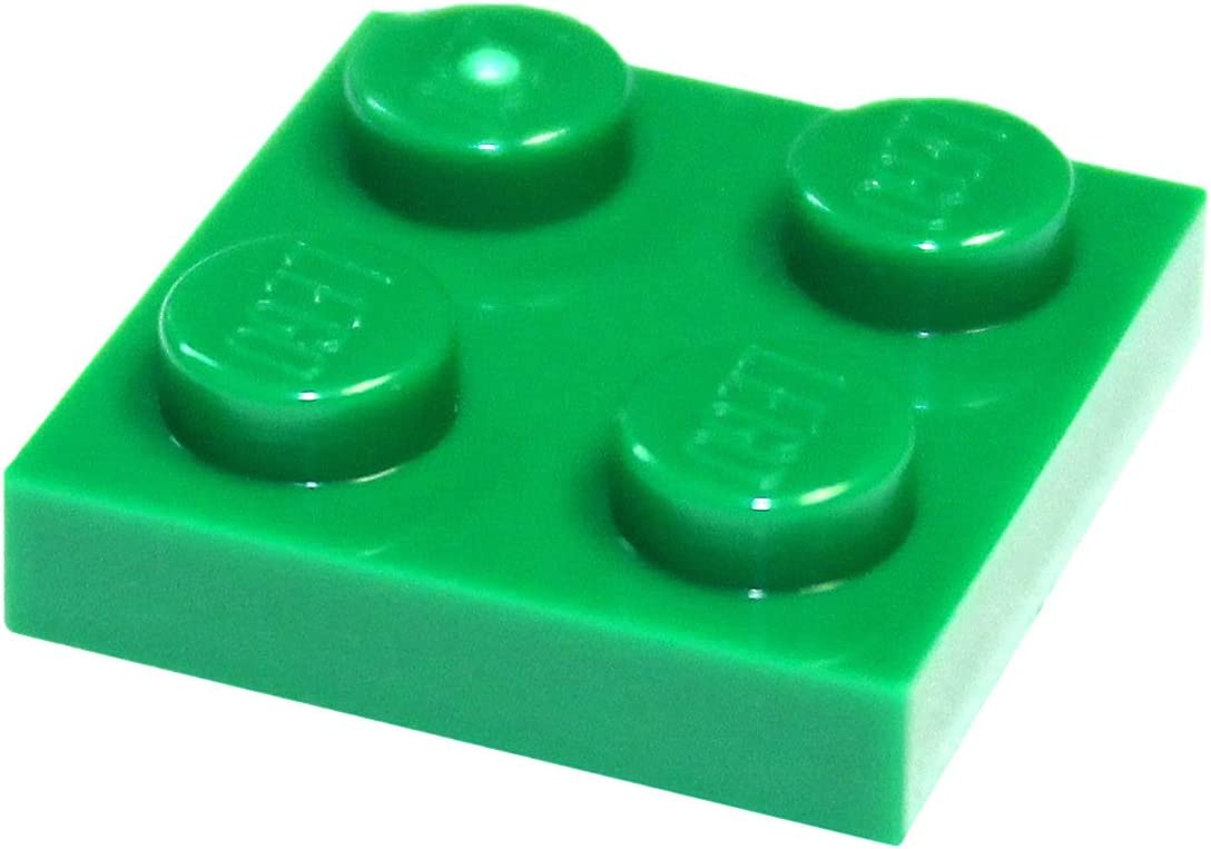 LEGO Parts and Pieces: Green (Dark Green) 2x2 Plate x100