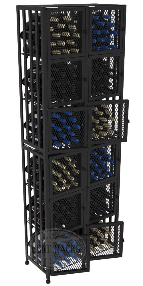 VintageView Case & Crate Metal Wine Rack Locker - Full Height - Capacity 192 Bottles