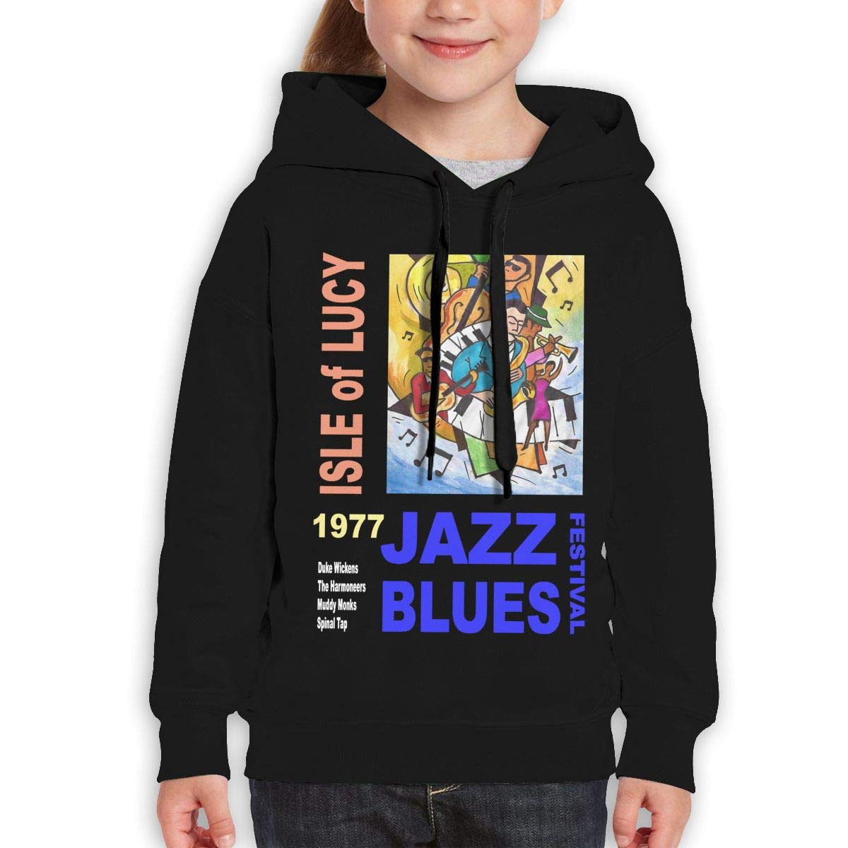 Guiping ISLE of Lucy Jazz Festival Teen Hooded Sweate Sweatshirt Black