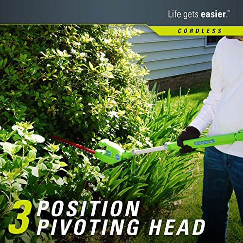 Greenworks 20-Inch 40V Cordless Pole Hedge Trimmer, Battery Not Included 22342 by Greenworks (Image #2)'