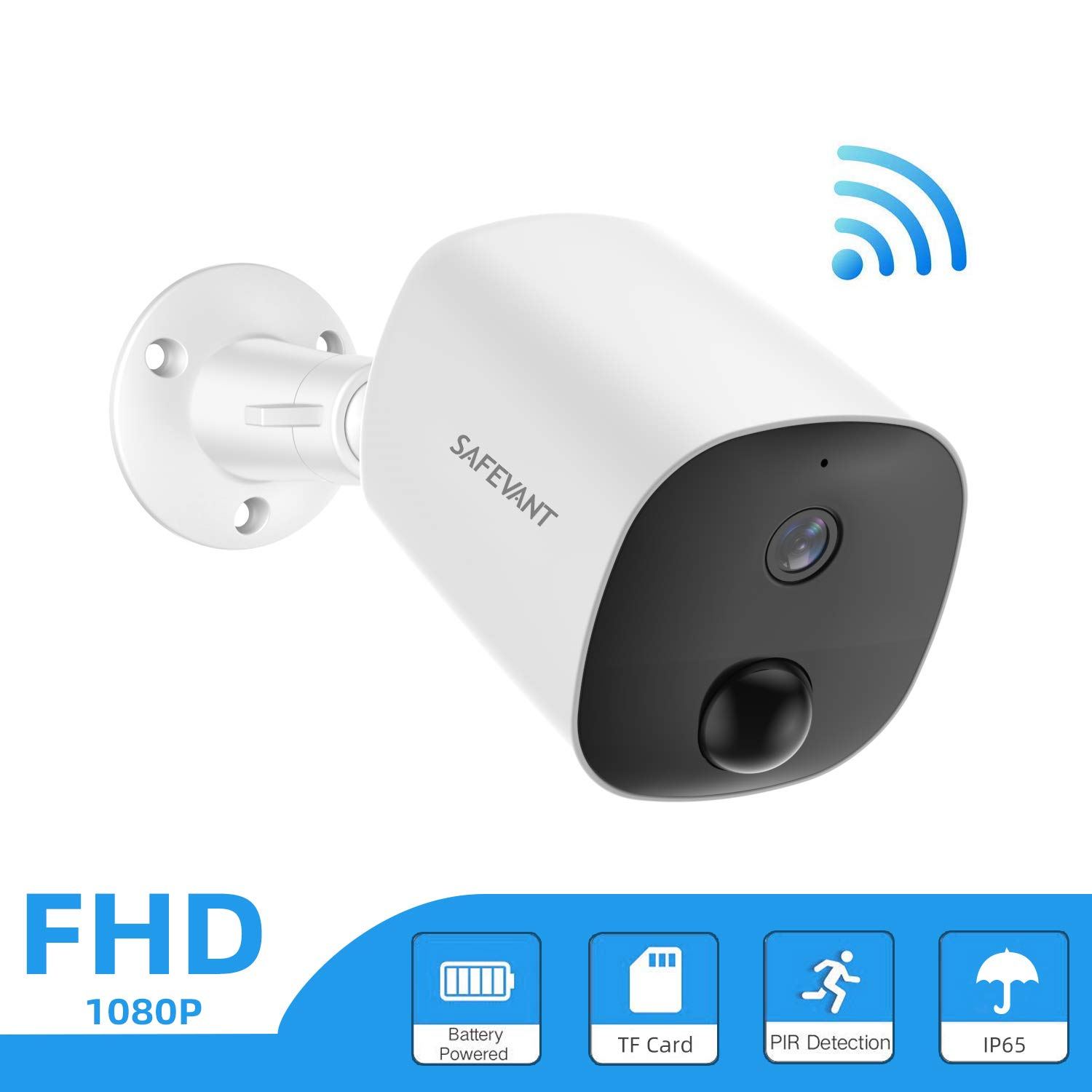 1080P HD Wireless Battery Powered Security Camera Outdoor Monitor Rechargeable
