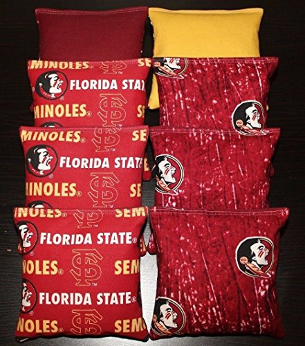 BackYardGamesUSA Florida State University Seminoles Cornhole Bean Bags CAMO 8 ACA Regulation Bags