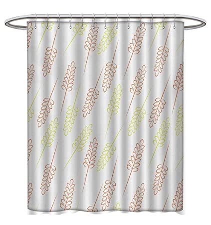 Harvest Shower Curtains Fabric Extra Long Pattern With Wheat Grain Ears Autumn Organic Food Bread Cereal