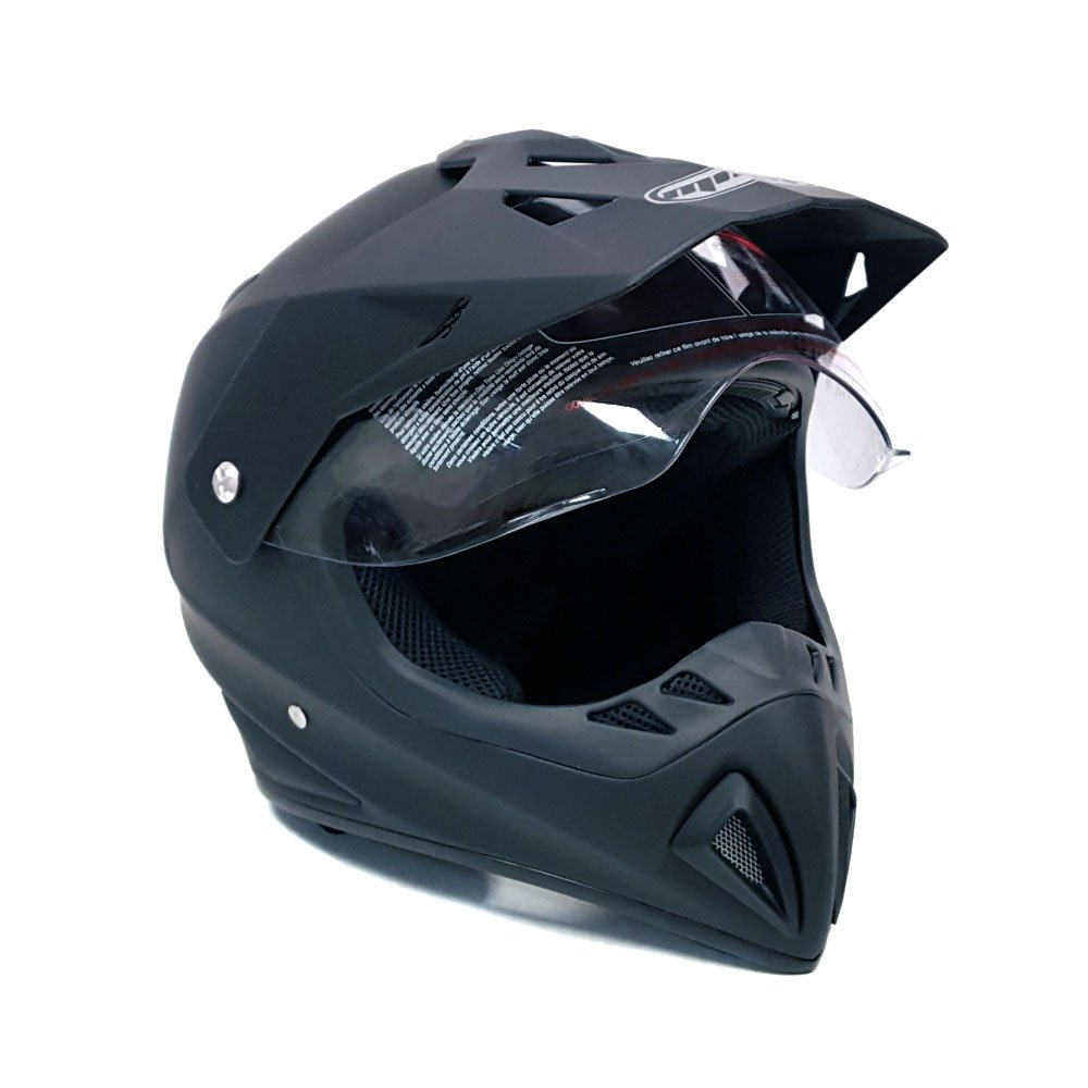 Dirt Bike Helmet With Visor >> Amazon Com Helmet Dual Sport Off Road Motorcycle Dirt Bike Atv