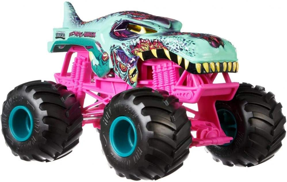 Amazon Com Hot Wheels Monster Trucks Mega Wrex Zombie Vehicle Multicolor Toys Games