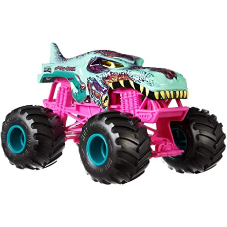 Amazon Com Hot Wheels Monster Trucks Mega Wrex Zombie Vehicle