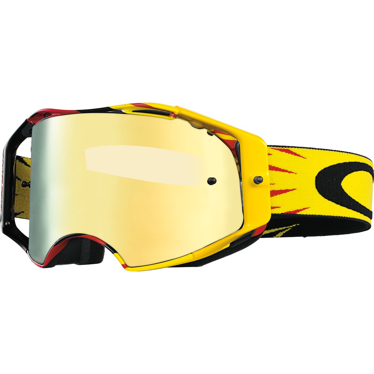 Oakley Airbrake MX High Voltage Goggles (White Frame/24K Iridium Lens)
