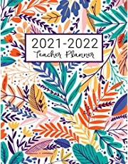 Teacher Planner: Lesson Plan for Class Organization | Weekly and Monthly Agenda | Academic Year August - July | Light Tropical Floral Print