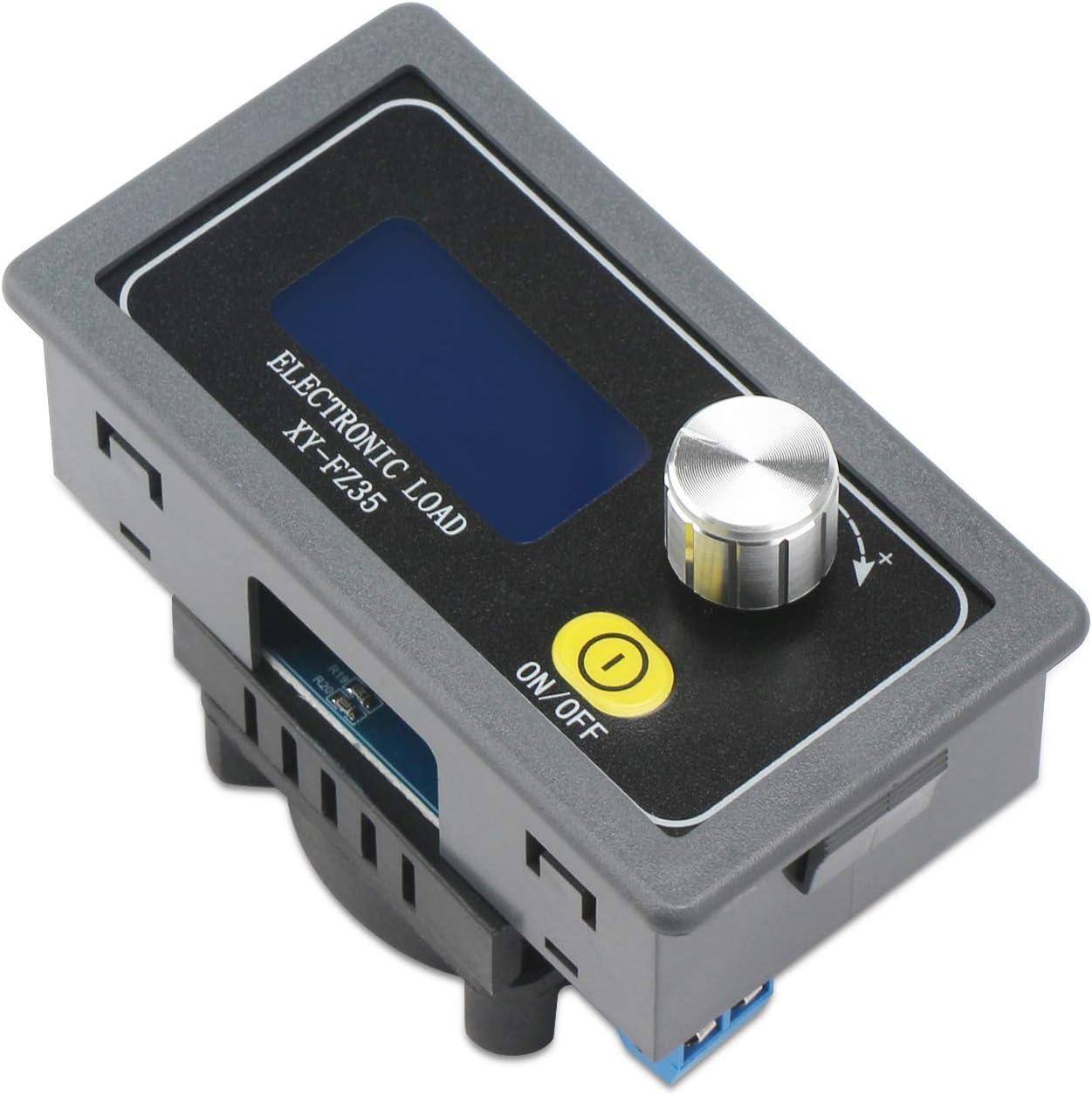 Droking Elektronische Last 5A 35W Batterielasttester Widerstandsmodul Netzteil Alterung Einstellbar DC Elektronische Kapazit/ätsalterung Entladungsdetektor Monitor Widerstandsplatine
