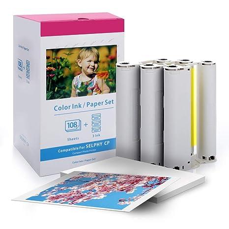 Compatible Canon Selphy CP1200 CP910 CP1300 Papel fotográfico y ...