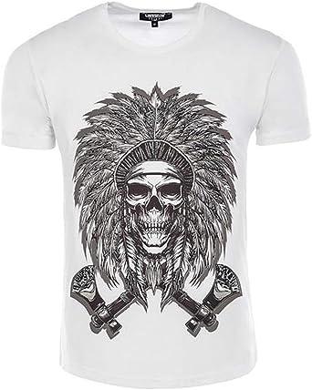 Carisma CRM4499 - Camiseta de manga corta, diseño de calavera ...