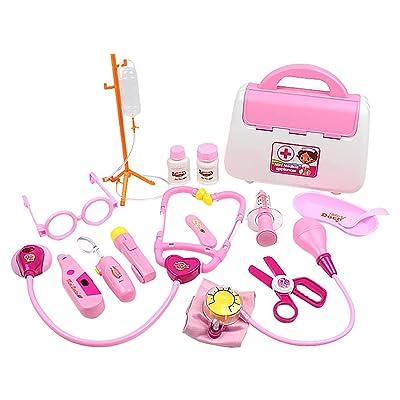 strety Juegos De Imitación Toy Doctor, 15PCS Doctor Kit for Kids, Doctor Kid Toy Juego de Imitación, Suitcase Doctor Kid Toy, Juguetes Educativos Juegos de rol para Niños, Niños.: Hogar