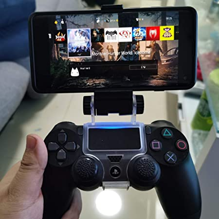 Ps4 Controller Phone Mount Clip Mobile Holder Stand Smartphone Game Clamp For Ps4 Controller Electronics Amazon Com