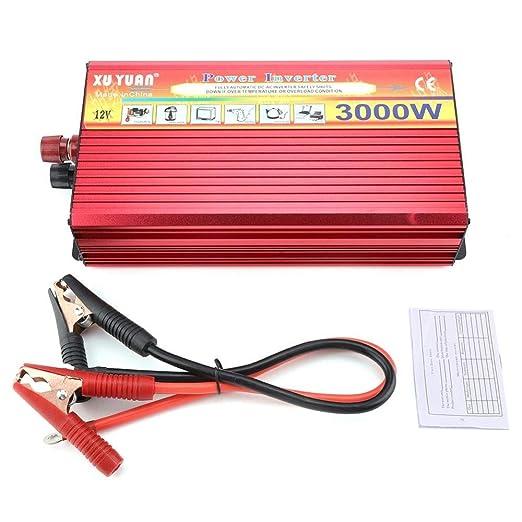 GQLB Coche convertidor Pantalla 10 V DC 12V 3000W LED Digital ...