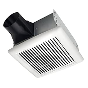 Broan AE110 Invent Energy Star Qualified Single-Speed Ventilation Fan, 110 CFM 1.0 Sones