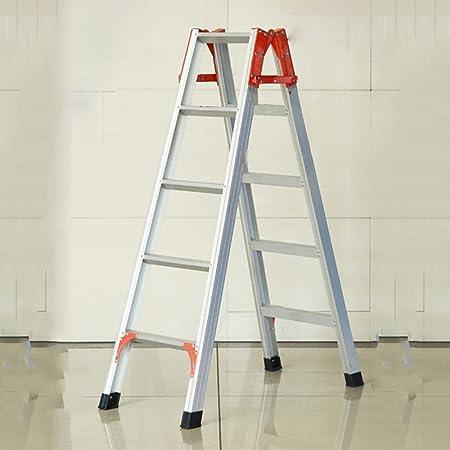 ZZHF tideng Taburete Plegable Escalera Plegable Multifuncional Escalera de Escalada telescópica de aleación de Aluminio Ingeniería doméstica Escalera mecánica de Cinco escalones 140 * 30 cm: Amazon.es: Hogar