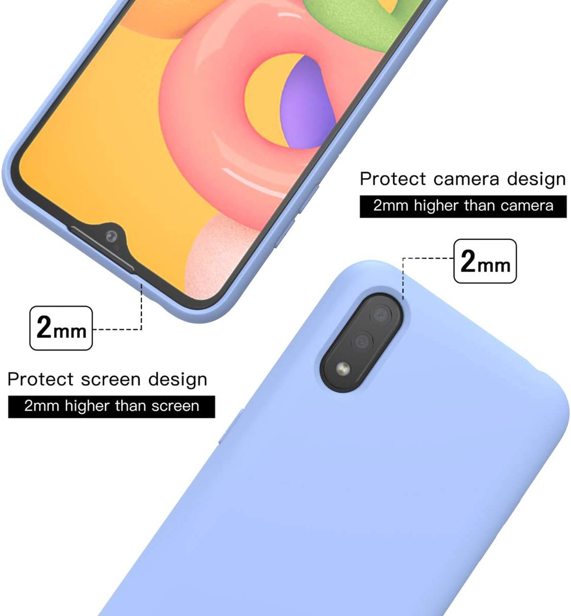 DIY Your Own Phone Cover Silicone TPU Bumper Yousaray Custom Design Case for Samsung Galaxy A01 Slim Shockproof Glass Personalized Photo Gift for Birthday Xmas Valentines Best Friends