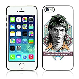 Colorful Printed Hard Protective Back Case Cover Shell Skin for Apple iPhone 5 / 5S ( Funny MacGyver Illustration )