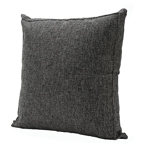 Throw Pillow Case Linen Burlap Decorative Euro Sham Cushion Cover Handmade Thick Pillow Protector with Zipper for Couch/Bench/Sofa (20 x 20 Inches, Da…