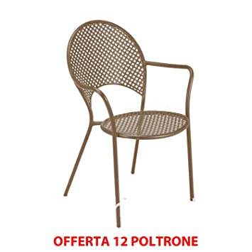 EMU Oferta 12 sillones Sol Apilable Marrón India Muebles de ...