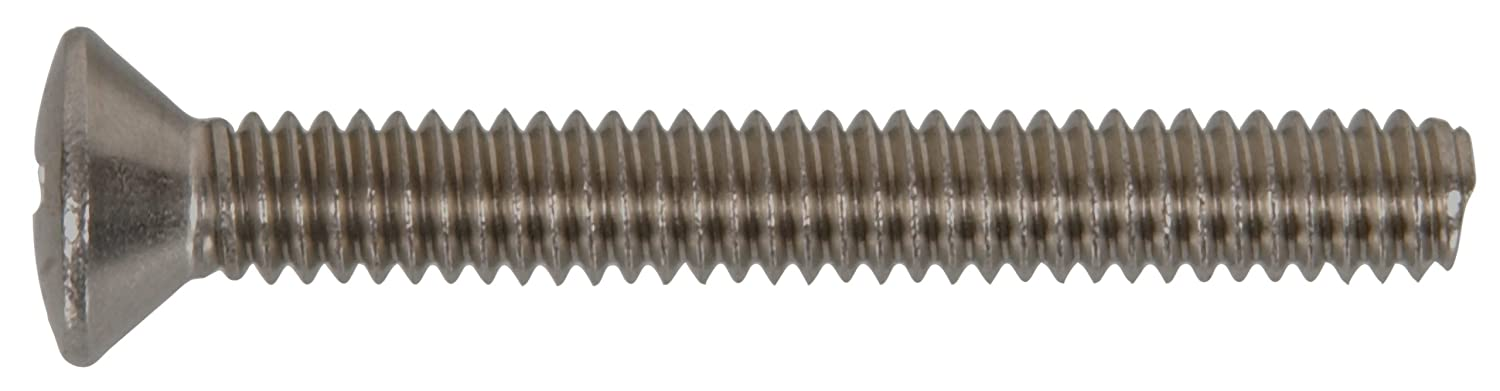 The Hillman Group The Hillman Group 4010 8-32 x 1 In 25-Pack Stainless Steel Oval Head Phillips Machine Screw