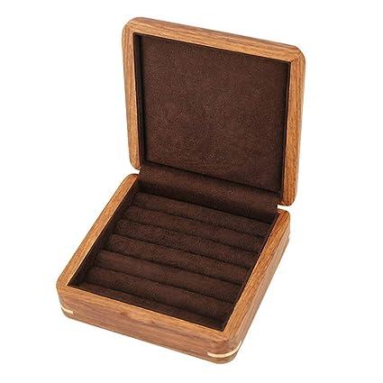 Caja De Joyería De Madera De TG, Caja Del Organizador De La Caja De Almacenamiento