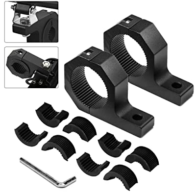 Bliauto LED Light Bar Mounting Bracket Kit Off-Road Light Bar Clamp Mounting Kit for Bull Bar Tube Clamp Roof Roll Cage Holder (1 Pair, 1.5 inch): Automotive