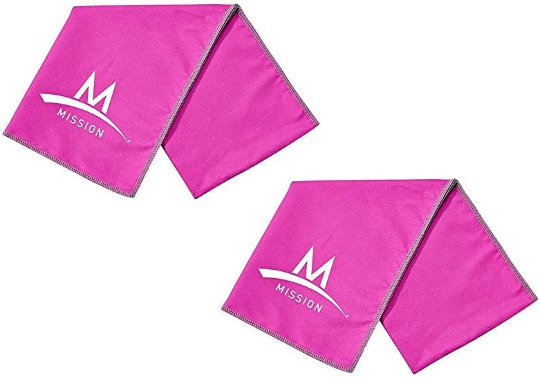 MISSION Enduracool Instant Cooling Towel Pro Series - Set of 2